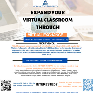 Flyer for Faculty Program Virtual Exchange/ COIL and SOLIYA Connect