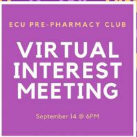 Pre-Pharmacy Club, Virtual Interest Meeting