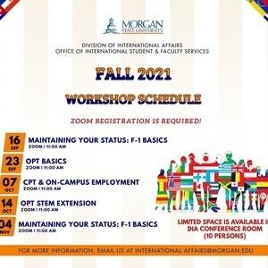 OISFS FA21 Workshop Schedule
