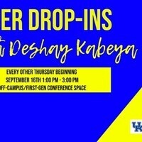 Career Drop-ins with Deshay Kabeya!