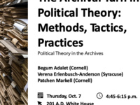 The Archival Turn in Political Theory: Methods, Tactics, Practices