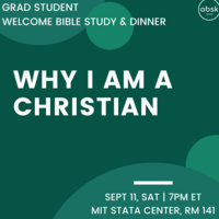 Grad Student Welcome Bible Study & Dinner