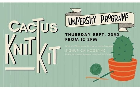 Come to the Union to pickup your Cactus Knit Kits!