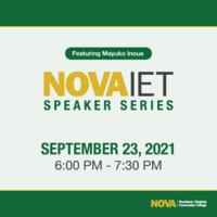 NOVA IET Speaker Series Featuring Mayuko Inoue