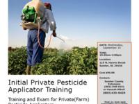 Initial Private Pesticide Applicator Training & Exam