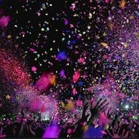 Hands throwing sparkling confetti