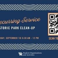 Recurring Service: Historic Park Clean-Up