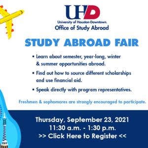 Virtual Study Abroad Fair Fall 2021
