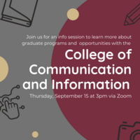 College of Communication and Information - A More in Four Grad Info Session