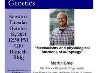 Tuesday, October 12th at 12:30 Martin Graef Seminar Biotech G10