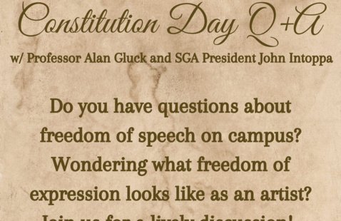 Constitution Day Q+A w/ Professor Alan Gluck and SGA President John Intoppa