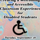 Creating a Welcoming and Accessible Classroom Experience for Disabled Students (Part 1)