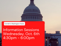 """Picture of Capitol Hill, """"Cornell in Washington hosts Information Session, Wednesday, Oct. 6th 4:30pm - 6:00pm"""