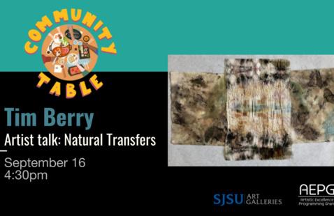 Tim Berry [Artist Talk] Natural Transfers