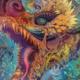 Art work by Android Jones - dragon from show Samskara