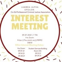 Interest Meeting for New Members