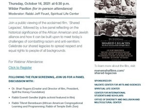 Film Screening and Panel Discussion of Shared Legacies