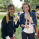 Two students enjoy a bubble tea at the ISC