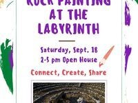 Rock Painting at the Labyrinth!
