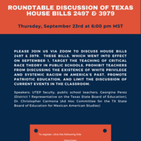 Roundtable Discussion of Texas House Bills 2497 & 3979