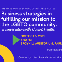 Business Strategies in Fulfilling Our Mission to the LGBTQ Community: A Conversation with Novant Health