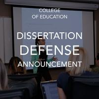 Dissertation Defense Announcement