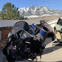 One of the telescopes at CU's Sommers-Bausch Observatory