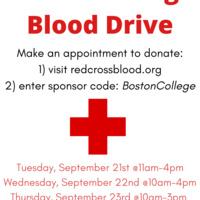 Boston College September Blood Drive Flyer