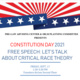 Constitution Day, Free Speech, Let's Talk About Critical Race Theory