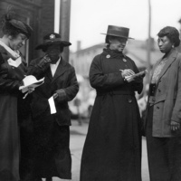 Louisville members of the National Association of Colored Women at the polls in Louisville, Kentucky, 1920. CS 033312a, Photographic Archives, UofL