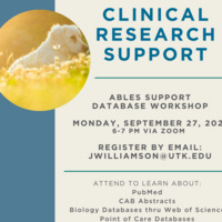 Clinical Research Support Workshop.