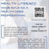 Health Literacy: Your Role as a Health Care Prefessional
