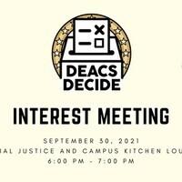 Deacs Decide Interest Meeting
