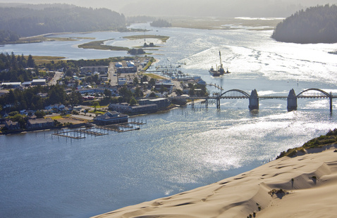 Picture of Florence, Oregon from above