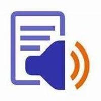 ReadSpeaker animated icon. Blue speaker.