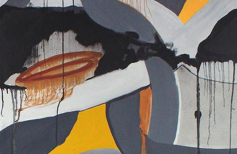 Susan Nomberg McCollough, Plexus II, detail, oil on canvas. Image courtesy of the artist.