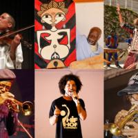 Clockwise from top left: India Cookie, Emmanuel Etolo, Mandjou Kone, Nelson Harrison, Rahman Jamaal, and Charles Tolliver.
