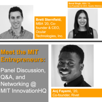 Meet the MIT Entrepreneurs: Panel Discussion, Q&A, and Networking @ MIT InnovationHQ