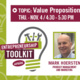Entrepreneurship Toolkit Series: Mark Hoersten - Value Proposition