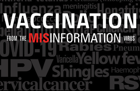 """Title Card for documentary, """"Vacination from the Misinformation Virus"""""""