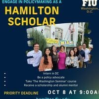 FIU in DC: Hamilton Scholars Information Sessions