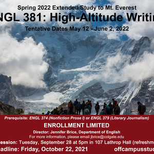 Spring 2022 Mt. Everest Extended Study Info Session