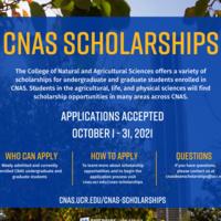 2021 CNAS Scholarship Flyer