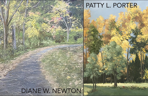 Detail of works by Diane Newton and Patty Porter