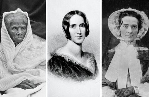 From left: Harriet Tubman, Frances Seward and Martha Coffin Wright. Source: https://www.nytimes.com/2021/03/30/books/review/the-agitators-dorothy-wickenden.html