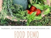 Produce to Pantry/Sustainability Initiatives Food Demo
