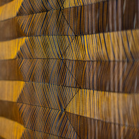 golden textile by a RISD student