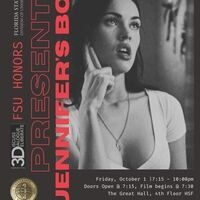 """The Honors Program 3-D Series (Discuss, Dialogue, and Deliberate), along with the Feminist and Ethnic Studies Leadership Group, will host a viewing and discussion of the film, """"Jennifer's Body.""""  When?: Friday, October 1, 2021, 7:15 p.m.-10:00 p.m.  Where?: The Great Hall, 4th Floor, Honors, Scholars & Fellows House  Doors to the Great Hall will open at 7:30 p.m. Questions? Contact Dr. Christina Owens at cowens@fsu.edu"""
