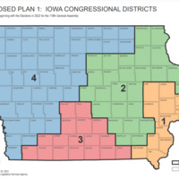 Proposed Iowa Congressional District Maps: Plan 1