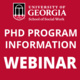 PhD Program Information Webinar 9/20/21 - 12:00 PM EDT